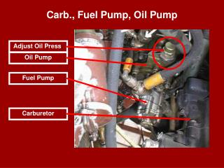 Carb., Fuel Pump, Oil Pump