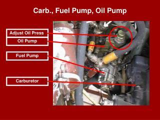 Carb., Fuel Pump, Oil Pump