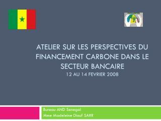 Atelier sur  leS  perspectives du financement carbone dans le secteur bancaire 12 AU 14 FEVRIER 2008