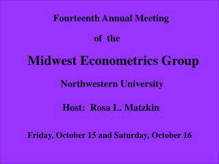 Fourteenth Annual Meeting