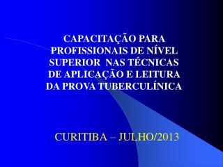 CURITIBA – JULHO/2013