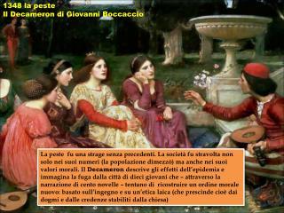 1348 la peste Il Decameron di Giovanni Boccaccio