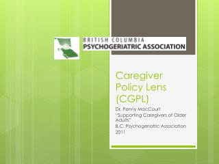 Caregiver Policy Lens (CGPL)