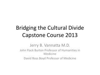 Bridging the Cultural Divide Capstone Course 2013