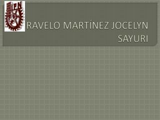 RAVELO MARTÍNEZ JOCELYN SAYURI