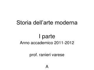 Storia dell'arte moderna I parte