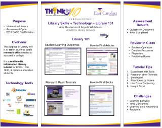 Library Skills + Technology = Library 101