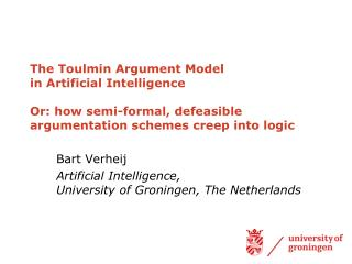 The Toulmin Argument Model  in Artificial Intelligence  Or: how semi-formal, defeasible argumentation schemes creep into