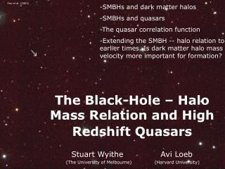 The Black-Hole – Halo Mass Relation and High Redshift Quasars
