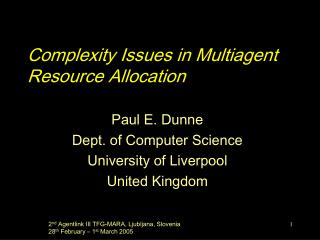 Complexity Issues in Multiagent Resource Allocation