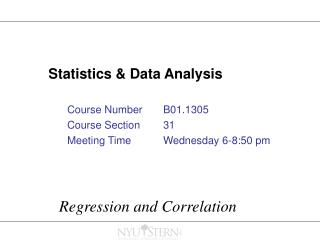 Statistics & Data Analysis