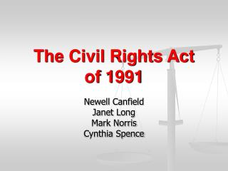 The Civil Rights Act  of 1991