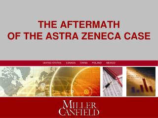THE AFTERMATH  OF THE ASTRA ZENECA CASE