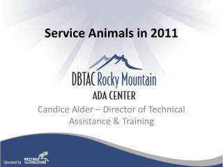 Service Animals in 2011