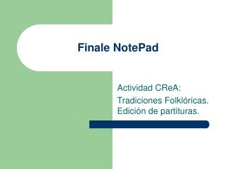 Finale NotePad