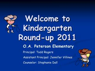 Welcome to Kindergarten Round-up 2011