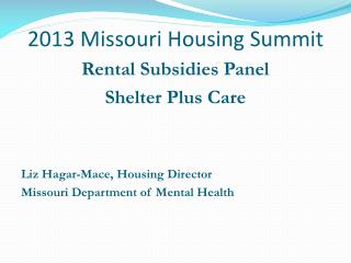 2013 Missouri Housing Summit