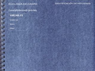 ECOLOGÍA DE CAMPO
