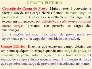 O CAMPO  ELÉTRICO