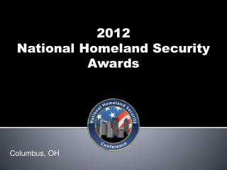 2012  National Homeland Security Awards