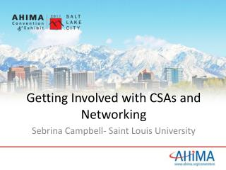 Getting Involved with CSAs and Networking