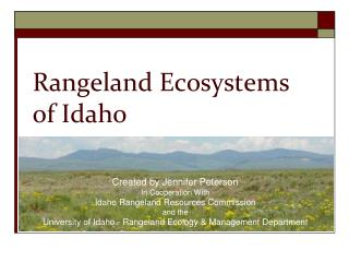 Rangeland Ecosystems  of Idaho