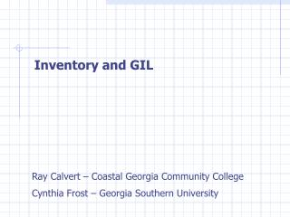 Inventory and GIL