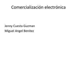Comercialización electrónica