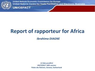 Report of rapporteur for Africa