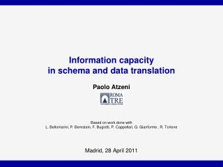 Information capacity  in  schema and data translation