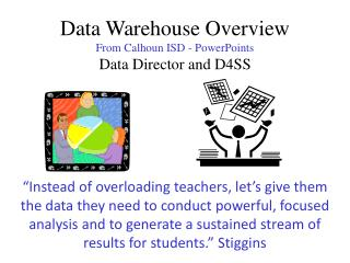 Data Warehouse Overview From Calhoun ISD - PowerPoints Data Director and D4SS
