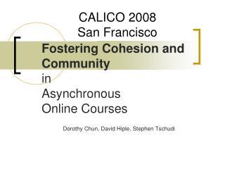 CALICO 2008 San Francisco