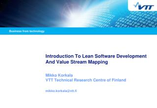 Introduction To Lean Software Development And Value Stream Mapping