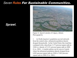 Seven  Rules For Sustainable Communities.