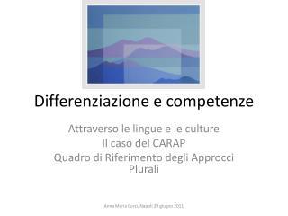Differenziazione e competenze