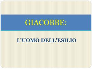 GIACOBBE: