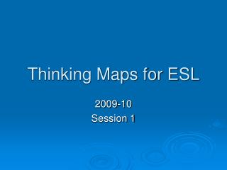 Thinking Maps for ESL