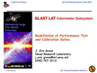 GLAST LAT  Calorimeter Subsystem