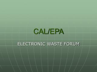 CAL/EPA