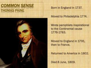 Common Sense Thomas Paine