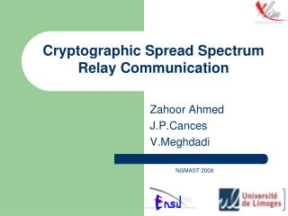 Cryptographic Spread Spectrum Relay Communication