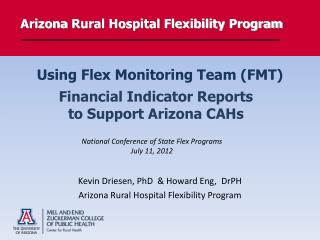 Arizona  Rural Hospital Flexibility  Program