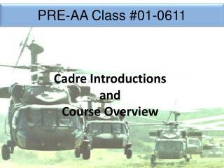 PRE-AA Class  #01-0611