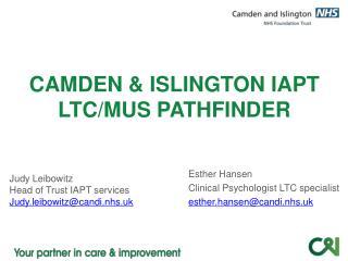 CAMDEN & ISLINGTON IAPT LTC/MUS PATHFINDER