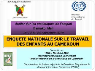 ENQUETE NATIONALE SUR LE TRAVAIL DES ENFANTS AU CAMEROUN