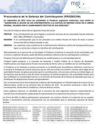 MGI Bargalló Cardoso y Asociados, S.C. ( México, City)C.P.C.  José Carlos Cardoso C.E-mail:   jcardoso@bargallo.com.