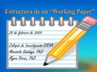 "Estructura de un "" Working Paper """