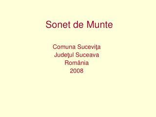 Sonet de Munte