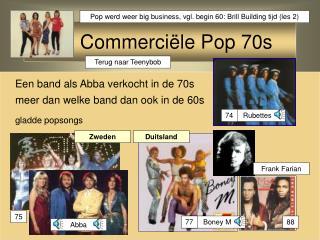 Commerciële  Pop 70s