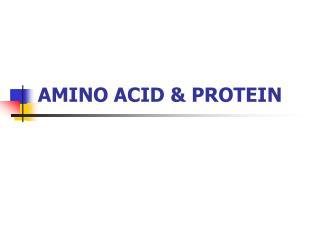 AMINO ACID & PROTEIN